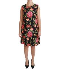 bloemen shift a-lijn mini jurk