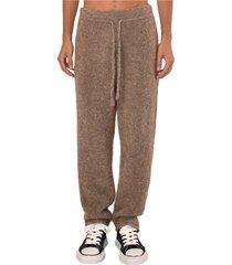 pantaloni jogger in misto lana