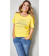 shirt janet & joyce geel