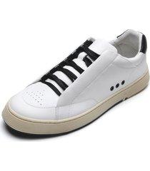 sapatênis couro osklen soho glove recortes branco