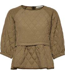 blouse blouses short-sleeved beige sofie schnoor