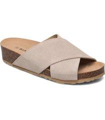 biabetty cross sandal shoes summer shoes flat sandals beige bianco