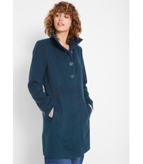 korte coat in wollen look