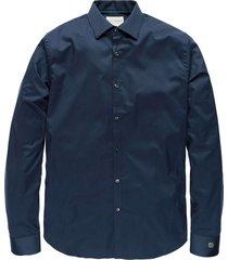 long sleeve shirt comfort satin dress blues