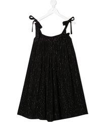 andorine strap flared midi dress - black