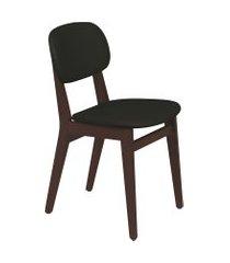 cadeira london tramontina 14060435 tabaco estofado preto
