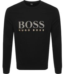 hugo boss heren sweatshirt - zwart/goud