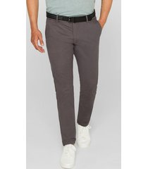 pantalón chino elástico con cinturón gris oscuro esprit