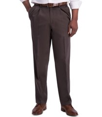 haggar men's iron free premium khaki classic-fit pleated pant