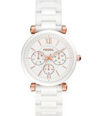 reloj fashion blanco fossil