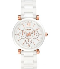 reloj fashion blanco fossil