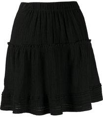isabel marant a-line mini skirt - black