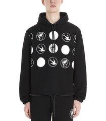 mcq alexander mcqueen swallow badge hoodie