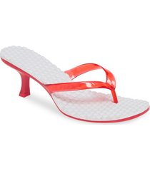 women's jeffrey campbell thong 2 slide sandal, size 8 m - red