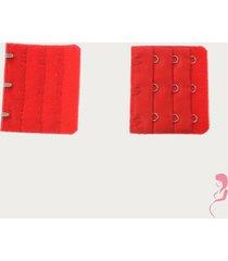 op en top zwanger beha verlenger 3 haaks rood (per stuk)