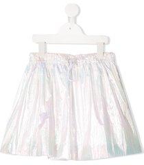 raspberry plum brexley iridescent-effect skirt - white