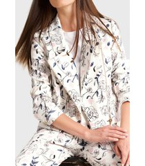 chaqueta estampado flor indigo liola