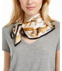 echo prowling ocelot silk square scarf