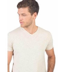 t-shirt básica premium flamê cru cru/p - kanui