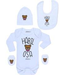 conjunto recién nacido habilosa blanco calambur