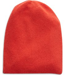 women's halogen ribbed cashmere beanie - red