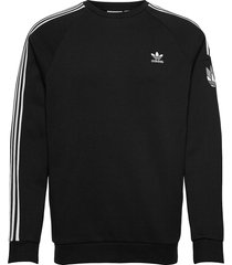 adicolor 3d trefoil 3-stripes crew sweatshirt sweat-shirt tröja svart adidas originals