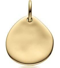 small siren pendant, gold vermeil on silver