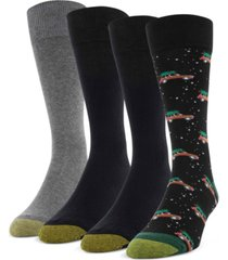 gold toe men's 4-pack wagoneer christmas socks