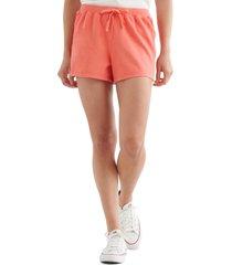 women's lucky brand the summer drawstring shorts, size medium - red