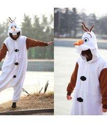 new disney olaf frozen adult snowman costume kigurumi one-piece pajamas cosplay
