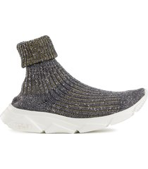 town sock hi-top sneakers