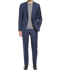 men's hickey freeman classic fit plaid wool suit