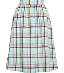 women's 1901 pull on midi skirt, size small - blue/green