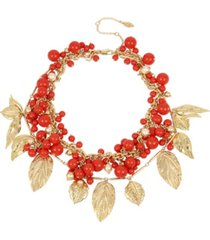 miriam haskell new york mixed coral bead shaky collar necklace