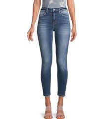 flying monkey women's high-rise ankle skinny jeans - medium dark - size 25 (2)