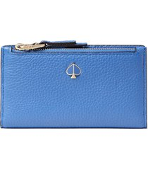 women's kate spade new york small polly slim bifold wallet - blue