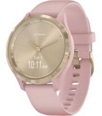 garmin vivomove 3s dust rose silicone strap touchscreen hybrid smart watch 39mm