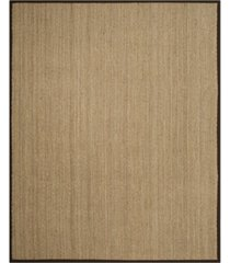 safavieh natural fiber natural and dark brown 8' x 10' sisal weave area rug