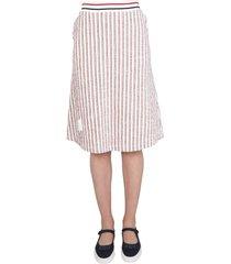 thom browne flared tweed skirt