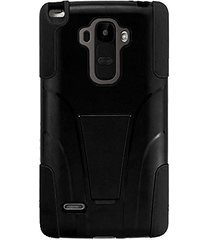 double layer hybrid case with kickstand - black for lg g stylo / lg g4 stylus