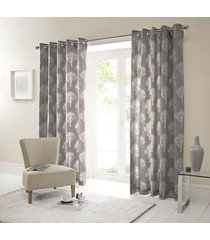 forest trees charcoal white 90x72 ring top lined curtains #seertdnaldoow *cur*