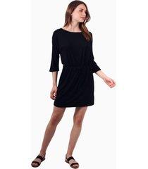 vestido mila corto de algodón negro jacinta tienda
