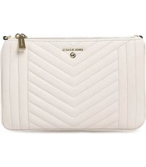 michael kors light cream double pouch crossbody bag