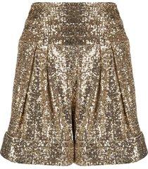 balmain high-waisted sequinned shorts