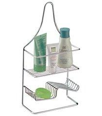 suporte para shampoo e sabonete em aço 42x21cm cromado
