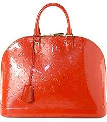 alma gm monogram vernis patent leather handbag
