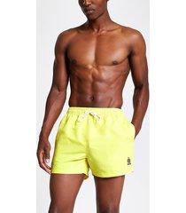 river island mens neon yellow ri crest short swim shorts