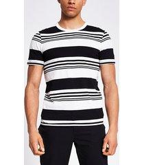 mens jack and jones white stripe t-shirt