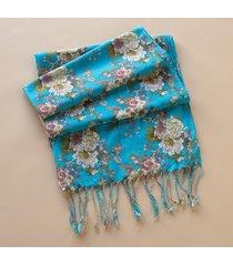 vintage wallpaper scarf