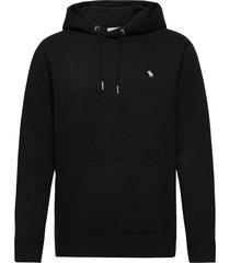 anf mens sweatshirts hoodie trui zwart abercrombie & fitch